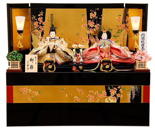 K-308 収納飾り 雛人形 京都西陣帯 雪月花