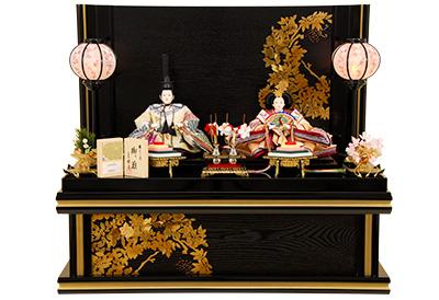 K-309 収納飾り 雛人形 京都西陣帯 菱菊重文