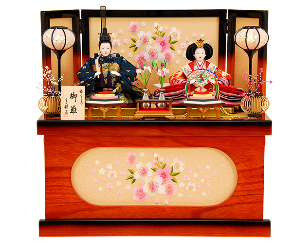K-316 収納飾り 雛人形