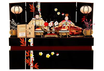 K-323 収納飾り 雛人形 京都西陣帯 纐纈織