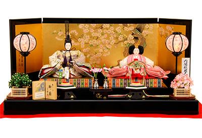 K-5 平飾り 雛人形 京都西陣帯 山口美術織物 【佳月オリジナル】