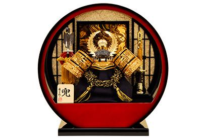 五月人形 K-113 徳川家康 兜ケース飾り